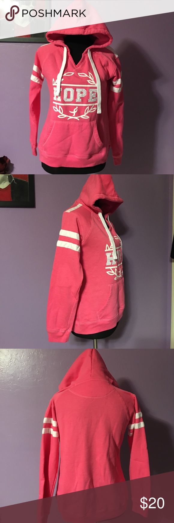 HOPE sweatshirt size small Susan G Komen. Pre owned in great condition. Size small. See pics for details. Breast cancer awareness! Susan G Komen Tops Sweatshirts & Hoodies
