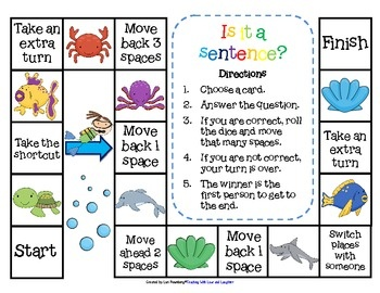 Is it a sentence? Or is it a fragment? This is one of those skills that our youngest learners simply cannot practice enough. I created an ocean themed game that will surely help my students, and, hopefully, yours, strengthen this skill. It comes with a game board, 18 question cards, and an answer key.