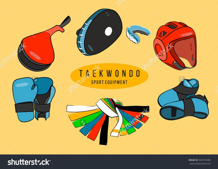 Sport equipment. Taekwondo equipment set
