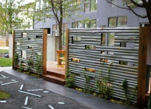 Corrugated Metal Fence Diy by lorraine