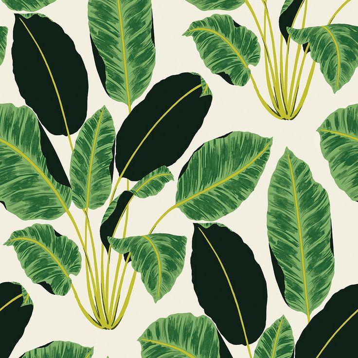 Hojas Cubanas Wallpaper by Genevieve Gorder - Tempaper - $125 - domino.com