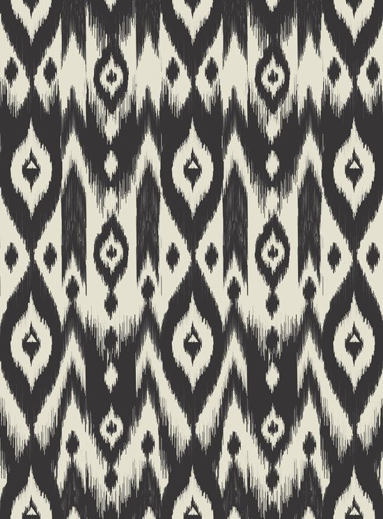 Black Amp Cream Tribal Ikat Art Print Beautiful Ikat