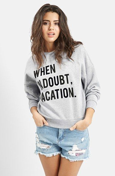 When in doubt vacation top! Cute!