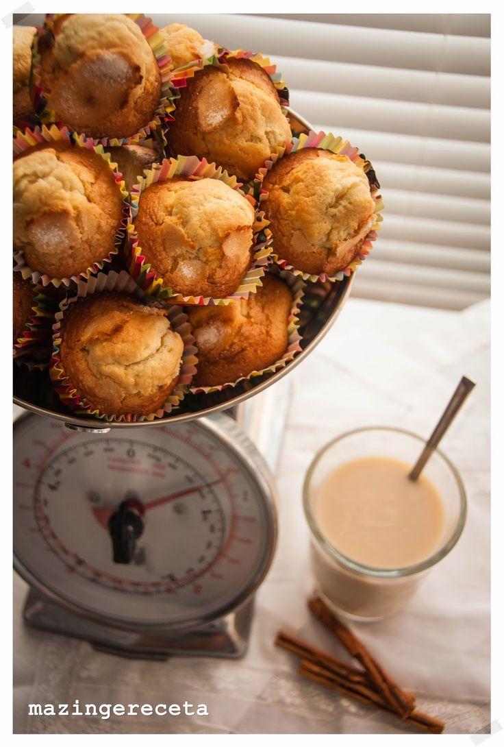Magdalenas Caseras receta by mazingereceta: Dulces