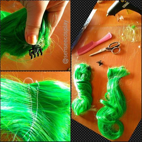 How to make pony tail wig parts? www.senseecosplay.net
