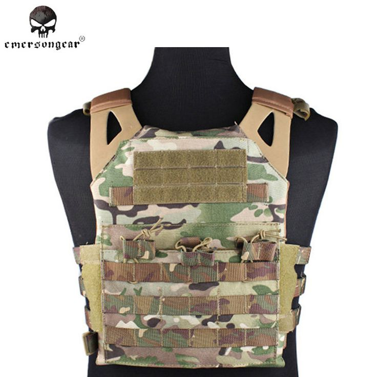 Emerson Tactical 1000D Molle JPC Vest Simplified Version Military Paintball Hunting Vest Chest Protective Plate Carrier Vest