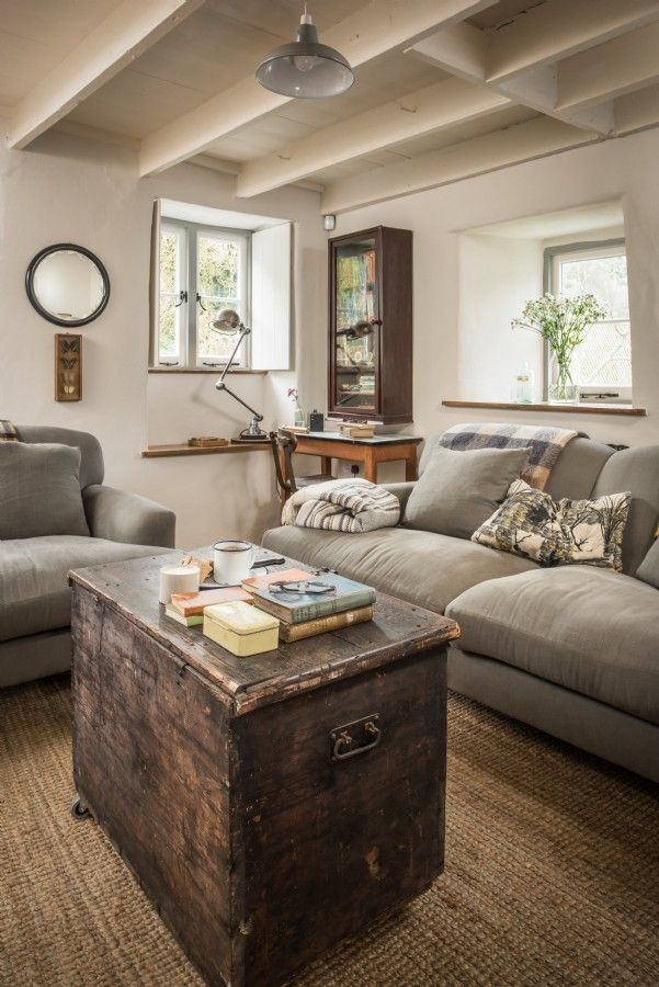 Luxury Self Catering Beach Cottage In Trebarwith Strand North Cornwall Farm House Living Room Modern Farmhouse Living Room Decor Country Living Room