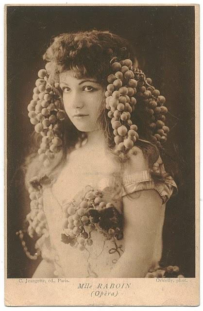 grapes as hair accessory