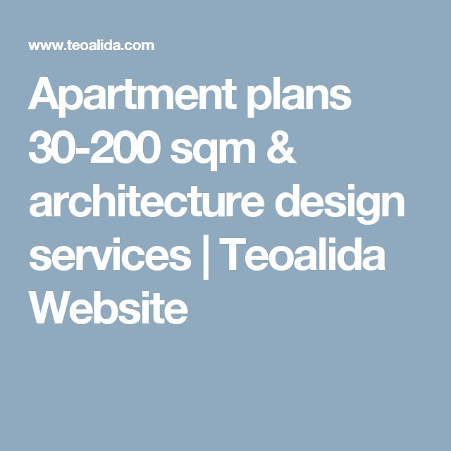 Apartment plans 30-200 sqm & architecture design services | Teoalida Website