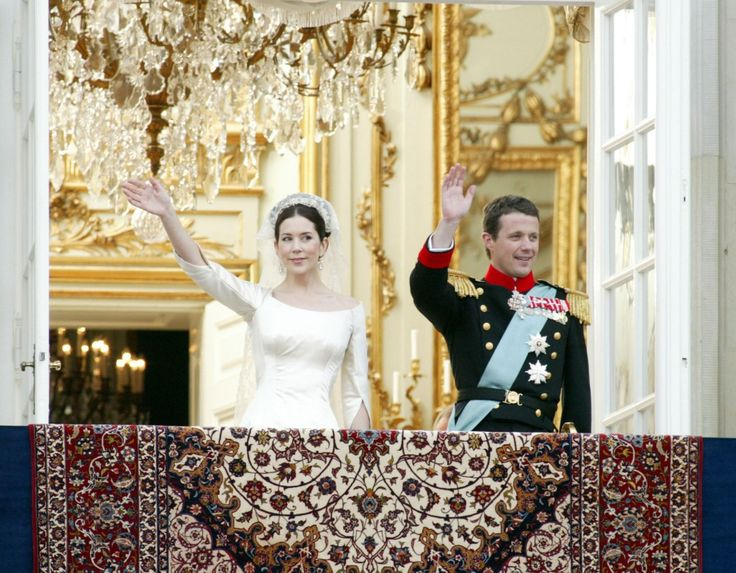 Crown Princess Mary And Prince Frederick Of Denmark On Their Wedding Day In 2004