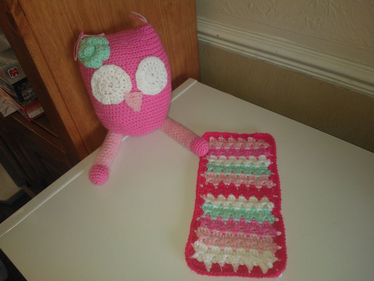 A Daisy Cottage Designs owl and a barbie sized granny stripe a la Attic 24. Hooked by Emma Barnett :)