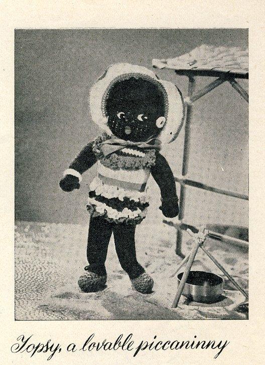 Vintage STITCHCRAFT Topsy the Piccaninny soft toy by PatternaliaVintage