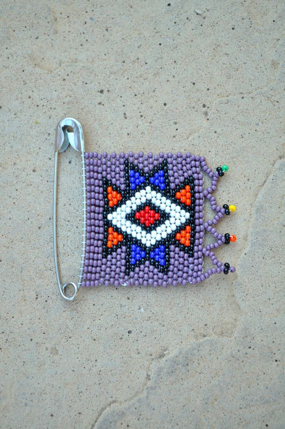 Beaded African BroochBurgundy Statement by akwaabaAfrica on Etsy