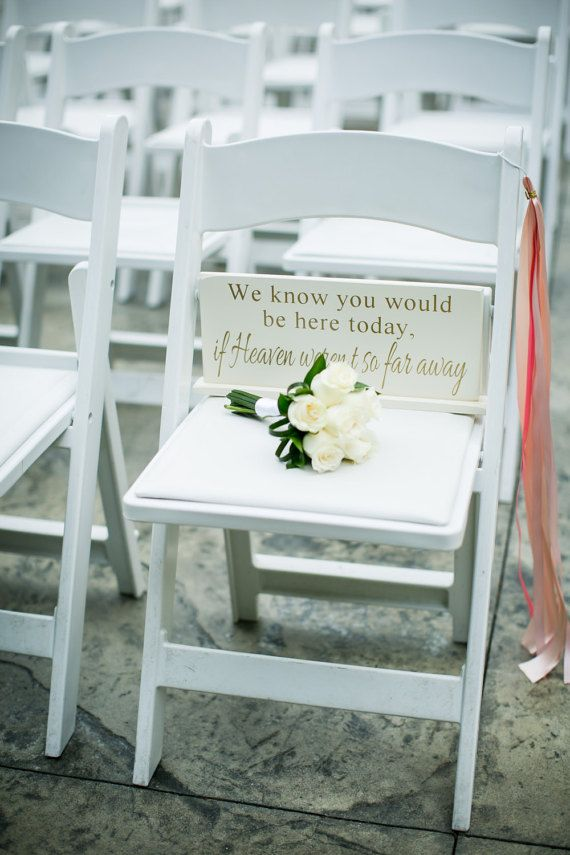We know you would be here today if Heaven werent so far away - 6 x 14.5 Wooden Wedding Sign What a wonderful way to honor those who can not be with you on your wedding day. Great Sign to display at your wedding with photos of your loved ones. COLOR OPTIONS: https://www.etsy.com/listing/152808669/jolie-mae-collections-color-options ~~~PLEASE INCLUDE THE FOLLOWING WHEN ORDERING~~~ 1- SOLID (1 COLOR) OR DISTRESSED PAINT (2+ COLORS) 2- BASE COLOR 3- TOP COLOR(S) - FO...