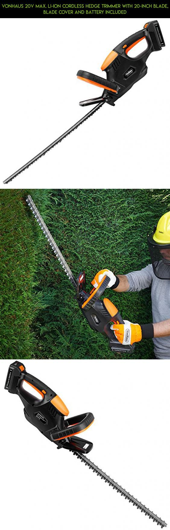 VonHaus 20V Max. Li-Ion Cordless Hedge Trimmer with 20-inch Blade, Blade Cover and Battery Included #camera #parts #racing #products #kit #fpv #trimmers #for #technology #drone #plans #shopping #men #gadgets #tech