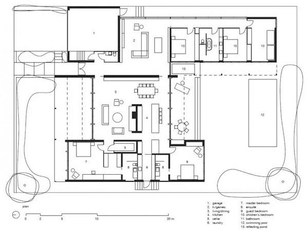 18 best courtyard house plans images on pinterest floor plans contrasting merger of materials defining bellarine peninsula house in australia malvernweather Images