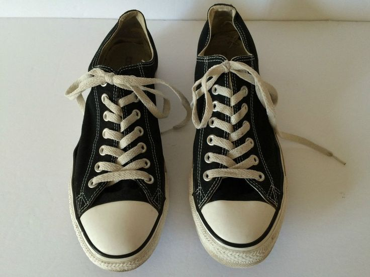 Converse All Star Black White Low Top Running Shoes Sneakers Men Sz 9  | eBay