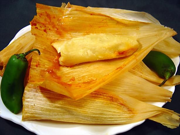 Traditional Tamales (Pork) from Food.com: This tamale recipe is about as traditional as you can get, although I use a roast instead of the whole pig head that many Mexican women use. I have also used beef, but they just do not taste quite the same. These take about all day to make and are a lot of work, but they are so worth the time and the effort. Not for the faint-hearted cook for sure. They are a huge hit here in the West. For added flavor, top with either some of the red sauce used to…