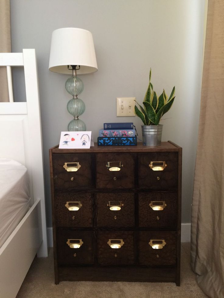 DIY IKEA Rast Card Catalog Hack Tutorial from Shirly and Chris Projects Blog