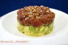 Receta de tartar de atun rojo y aguacate