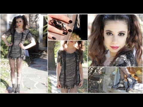 Vampire • Witch • Zombie | Cute Halloween DIY Tutorial: Makeup, Hair, & Costume! - YouTube