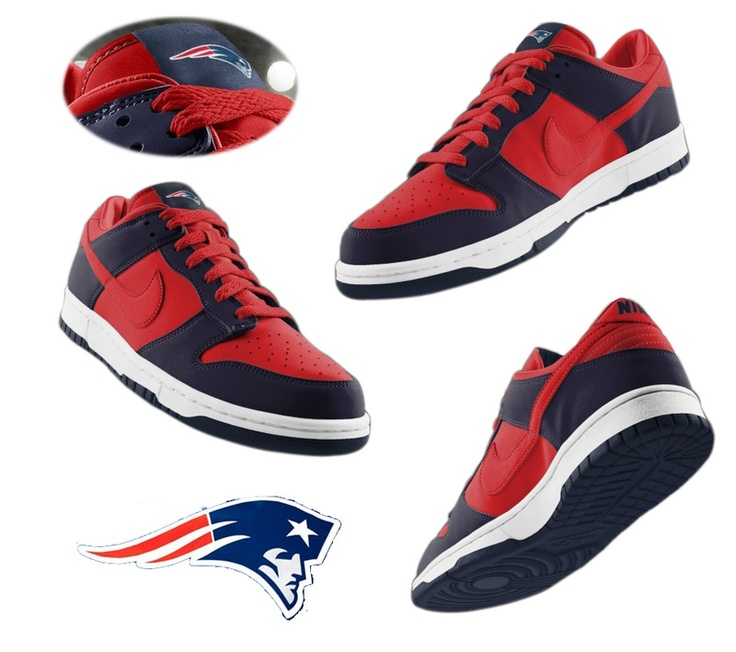 nike id sneakers patriots