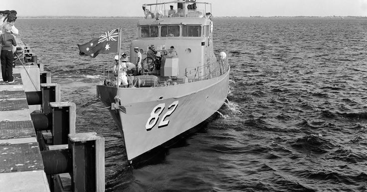 Attack Class Patrol Boat HMAS Adroit. One of 20 in the class. In service from 1967. Named as follows... Acute, Adroit, Advance, Arrow, Attack, Assail, Aware,  Bandolier, Bayonet, Bombard, Buccaneer,  all those from memory ! Now to Google. Archer, Ardent, Barnett, Barricade, Aitape, Ladave, Lae, Madang, Samarai. Out of service by 1985.