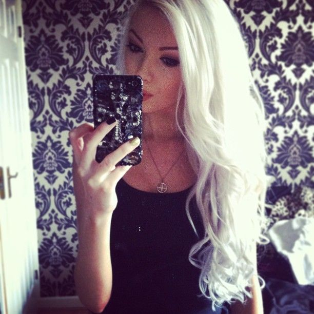 I could never pull it off - White hair - Bleach - Hair - So risky and frisky