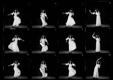 It's me, Cathy. Kate Bush performing 'Wuthering Heights' for photographer Gered Mankowitz in 1978
