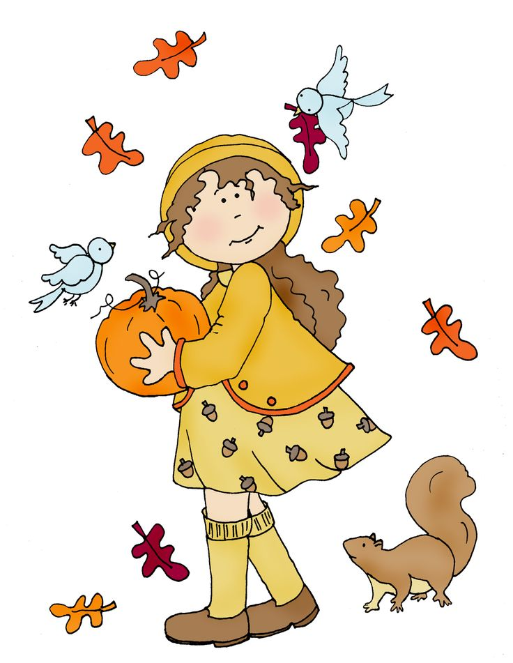 ■ Dearie Dolls...      free Dearie Dolls digi stamp of fall girl with pumpkin