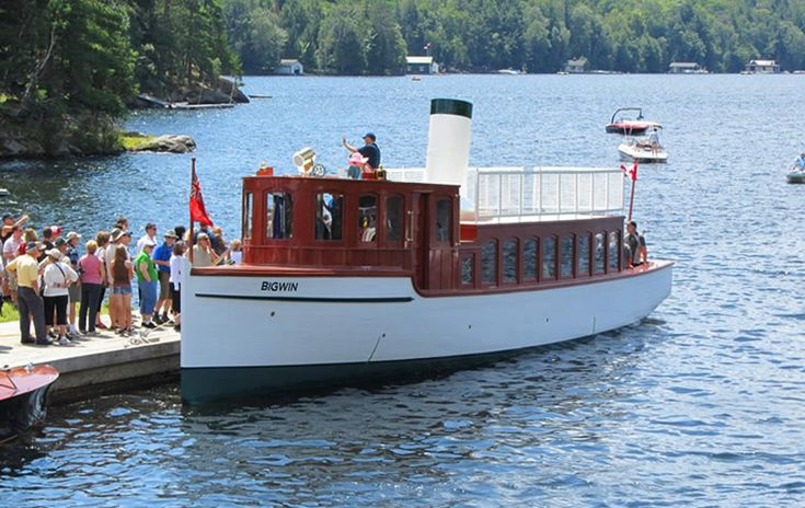 The SS Bigwin Steamboat on Lake of Bays... When they quenched the last fire in…