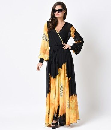 For Sun sirens and lovers of all things 70s, this luxurious retro maxi dress is the perfect slice of summer! An airy pol...Price - $108.00-cUzTI1Jn