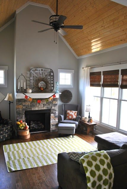 family room adjacent to kitchen walls front porch sherwin williams same as kitchen living. Black Bedroom Furniture Sets. Home Design Ideas