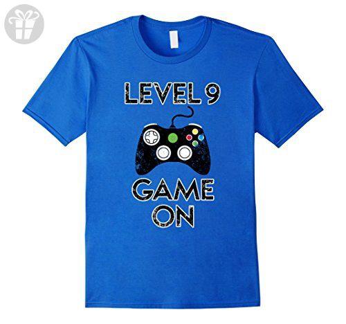 Men's Level 9 Game On - 9th Birthday Gift T-Shirt Small Royal Blue - Birthday shirts (*Amazon Partner-Link)