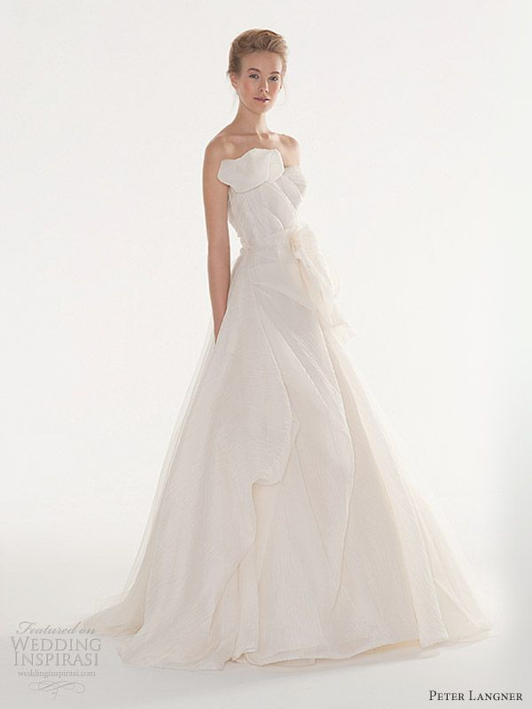 peter langner bridal 2013 wedding dress joy strapless gown