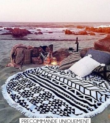 50 best cerviette de plage ronde images on pinterest. Black Bedroom Furniture Sets. Home Design Ideas