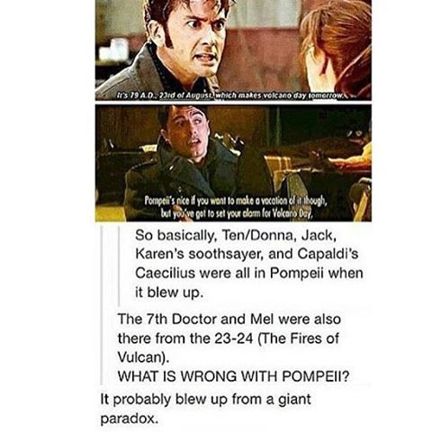 YES Volcano Day Paradoxes Ten, Donna, Jack Harkness, Capaldi, 3