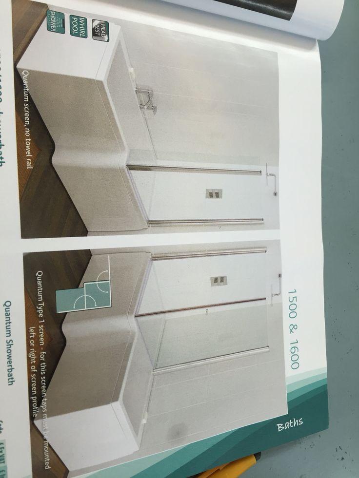 L shape bath and shower door