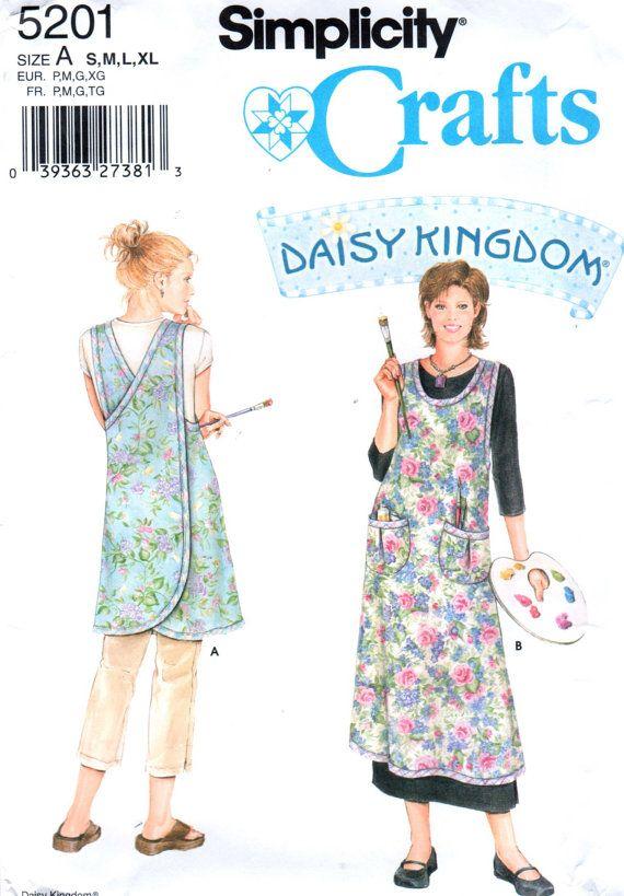 Simplicity 5201 Daisy Kingdom Misses Wrap Around Apron