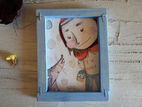 Piccola illustrazione originale con cornice in di angelaperrini, €30.00