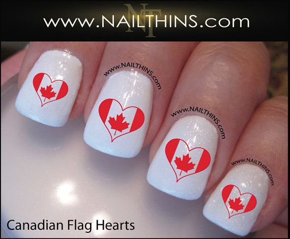 The 25 best flag nails ideas on pinterest american flag nails canadian flag nail decal heart nail design nailthins not vinyl sticker or water slide prinsesfo Choice Image