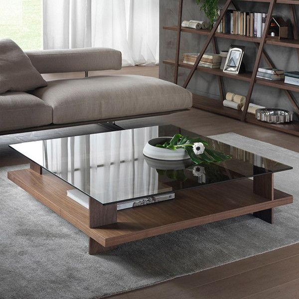 Pacini e Cappellini Corallo Coffee Table - Square - NK - Bronze Glass... (£1,777) ❤ liked on Polyvore featuring home, furniture, tables, accent tables, multi, transparent coffee table, glass top coffee table, square table, storage coffee table and bronze furniture