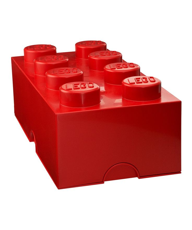 Take a look at this LEGO Bright Red 2x4 Storage Brick today!