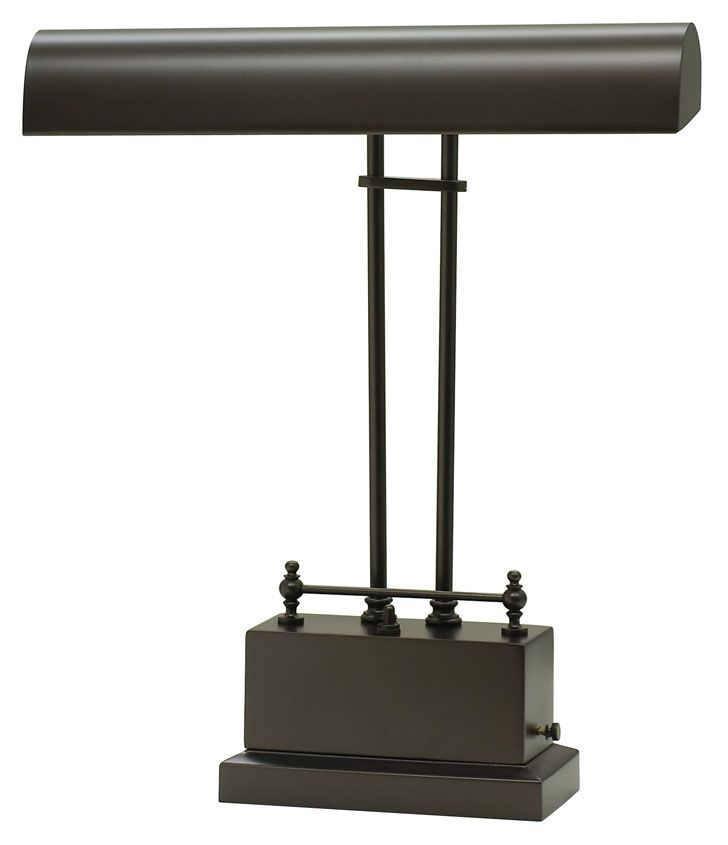 House of Troy BPLED200-81 Transitional LED Mahogany Bronze 14 Inch Tall Piano/Desk Lamp - HOT-BPLED200-81