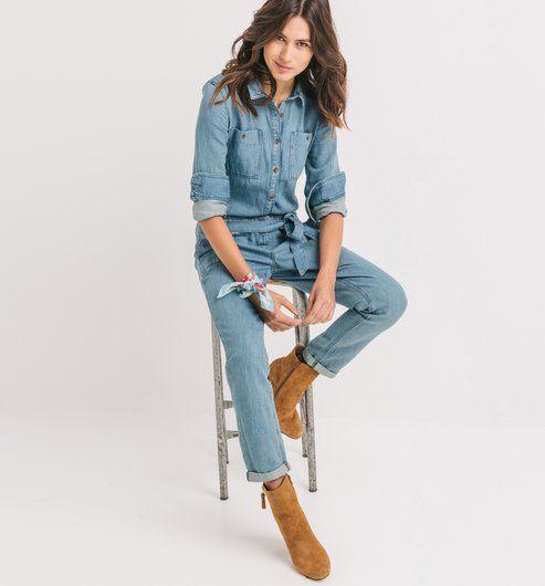 Macacão de ganga jeans básico - Promod