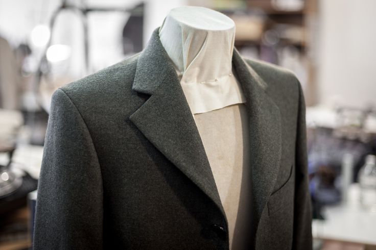 Made to measure pure wool cashmere driving coat