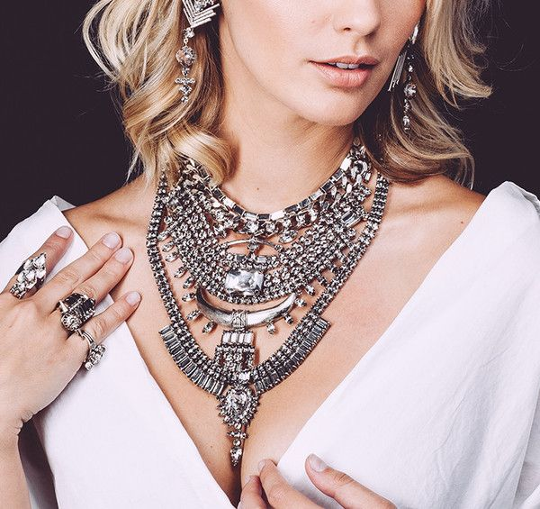 Fashion Collares Women Gros Collier Femme 2016 ZA Necklaces Pendants Choker Vintage Gun Black Kolye Maxi Crystal Statement
