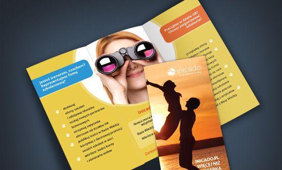 inicado.pl - ulotki promocyjne dla portalu inicado.pl // flyers promoting inicado.pl website