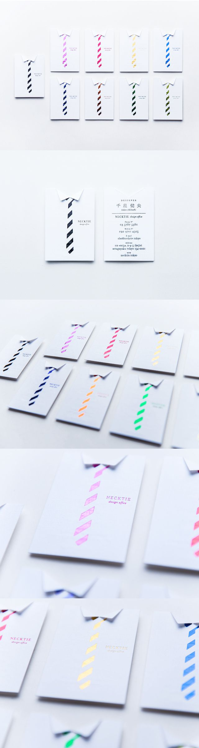 Necktie Business Cards PD