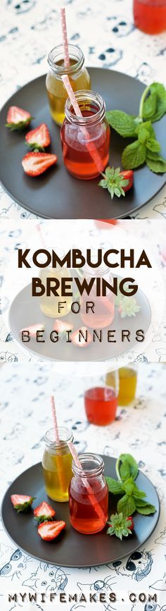 Kombucha Brewing for Beginners - learn how to make this delicious, healthy drink in your own home for 1/10th the price.  #kombucha #tea #vegan #delicious